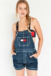 Tommy Jeans For Uo '90S Shortall Overall Rinsed Denim