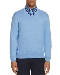 Brooks Brothers Cotton V Neck Sweater Breaker Blue