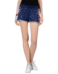 Adidas X Mary Katrantzou Trousers Shorts Women Blue