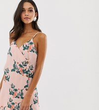 Native Youth Slip Dress With Buttons In Sea Horse Print Pink