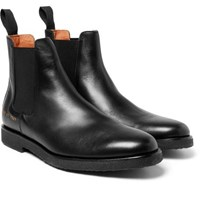 Common Projects Cross Grain Leather Chelsea Boots Black