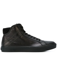 Hogan Rebel High Top Lace Up Sneakers Black