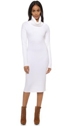 Dkny Long Sleeve Turtleneck Dress White