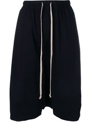 Rick Owens Drkshdw Oversized Dropped Crotch Shorts Black