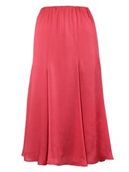 Chesca Multi Panel Flared Skirt Coral