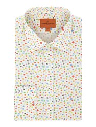 Simon Carter Men's Watercolour Spot Jagger Shirt White