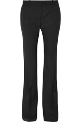 Alexander Mcqueen Grain De Poudre Wool Flared Pants Black