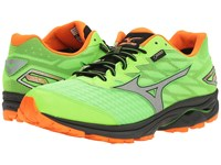 Mizuno Wave Rider 20 Gtx Green Gecko Clownfish Silver Men's Running Shoes Yellow