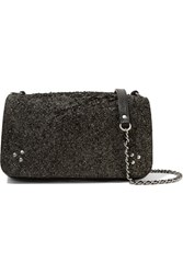 Jerome Dreyfuss Bobi Glittered Leather Shoulder Bag Black