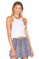 Michael Lauren Cactus Cropped Tank White