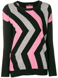 Steffen Schraut Geometric Sweater Black