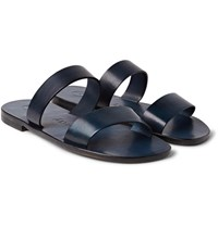 Alvaro Alex Leather Sandals Blue