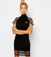 Puma Exclusive To Asos Bodycon Dress With Mesh Inserts Black