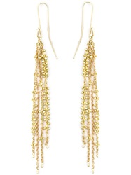 Natasha Collis Waterfall Pin Earrings Metallic