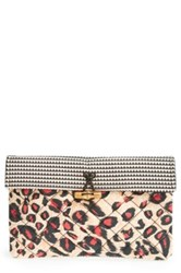 Maison Scotch Quilted Clutch Pink