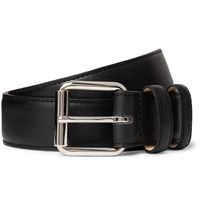A.P.C. 3Cm Black Leather Belt Black