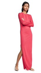 Barrie Bodycon Cashmere Sweater Dress Dark Fuchsia