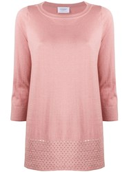 Snobby Sheep Cropped Sleeve Loose Fit Top Pink