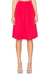Greylin Tropez Pleated Midi Skirt Coral