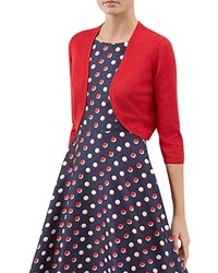 Hobbs London Carrie Cutaway Bolero Red