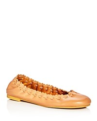 See By Chloe Jane Scalloped Ballet Flats Light Beige