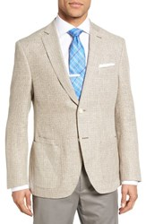 Jkt New York Men's Trim Fit Wool And Linen Blazer Light Tan