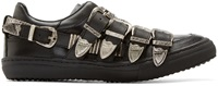 Toga Pulla Leather And Silver Buckled Sneakers