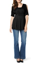 Maternal America Women's Split Sleeve Maternity Nursing Top