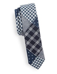 Original Penguin Cotton Patchwork Tie Navy