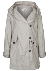 Opus Heddine Short Coat Silver Grey