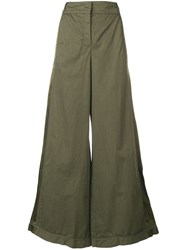 Andrea Ya'aqov Super Wide Trousers Green