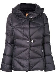 Fay Fitted Puffer Jacket Feather Down Polyamide M Black