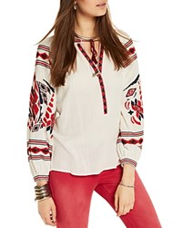 Scotch And Soda Embroidered Boho Blouse Off White