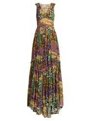 Missoni Floral Print Silk Dress Yellow Print