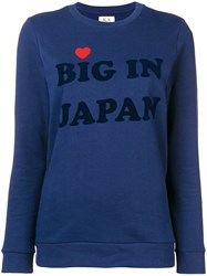 Zoe Karssen Big In Japan Sweatshirt Blue