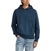Ksubi Washed Cotton French Terry Hoodie Blue