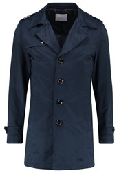 Selected Homme Shdnewadams Trenchcoat Dark Sapphire Dark Blue