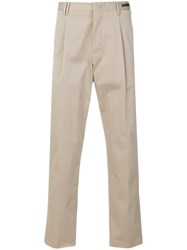 Pt01 Straight Leg Trousers Nude And Neutrals