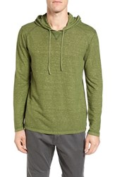 Gramicci Men's Damon Regular Fit Hemp And Organic Cotton Pullover Hoodie Chive