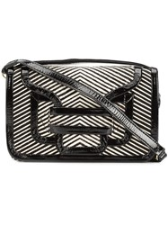 Pierre Hardy Striped Satchel Black