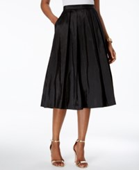 Alex Evenings A Line Pleated Skirt Black