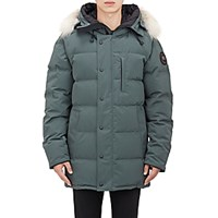 Canada Goose Men's Quilted Tech Canvas Parka Grey