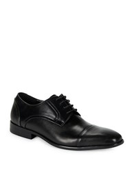Kenneth Cole Reaction Sling N Arrow Texture Accented Oxfords Black