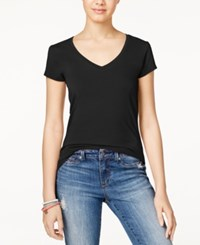 Energie Juniors' Mila V Neck Tee Black