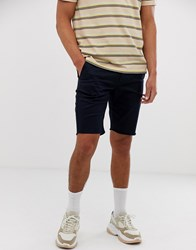 Sik Silk Siksilk Chino Shorts In Black With Raw Hem