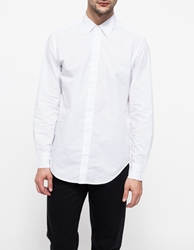 Shades Of Grey Hidden Placket Shirt White