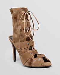Schutz Peep Toe Sandals Caged High Heel Yucca