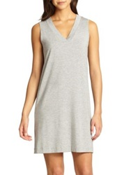 Hanro Champagne Tank Gown Infinity Grey Melange