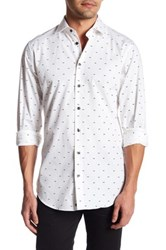14Th And Union Oxford Trim Fit Alpha Dress Shirt White