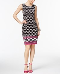 Inc International Concepts Printed Sheath Dress Only At Macy's Pink